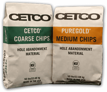 CETCO Coarse Chips & PureGold Medium Chips